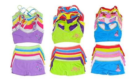 Girls' Training Bra and Underwear Bundle (6-Pack)