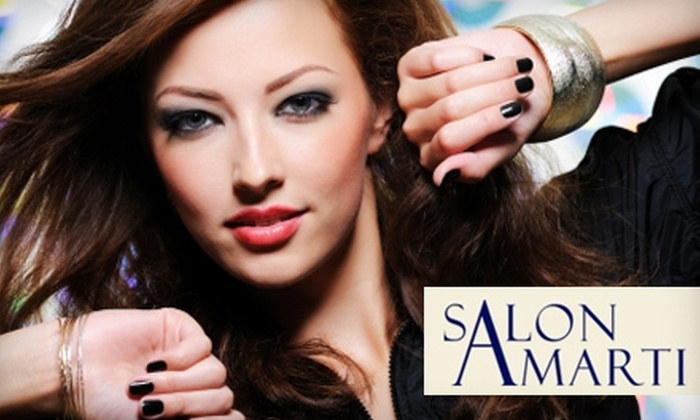 Salon Amarti - Old Town: $39 for a Manicure and Pedicure ($78 Value) or $65 for a Woman's Haircut, Style, and Color