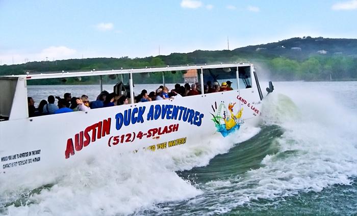Austin Duck Adventures - AUSTIN VISITOR'S CENTER: Duck Tour for Two or Four from Austin Duck Adventures (50% Off)