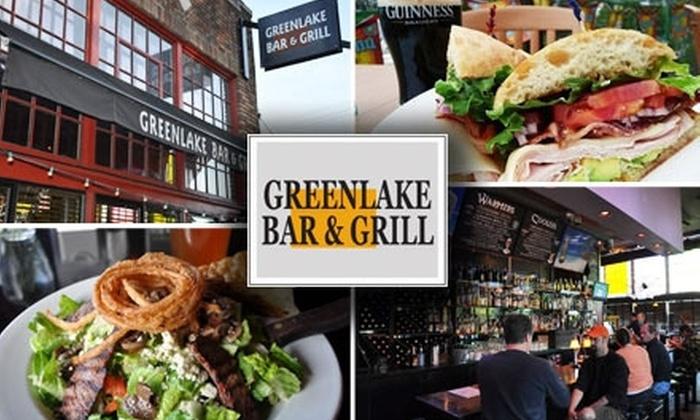 Greenlake Bar & Grill - Green Lakes: $10 for $25 Worth of Grub and Guzzle at Greenlake Bar & Grill