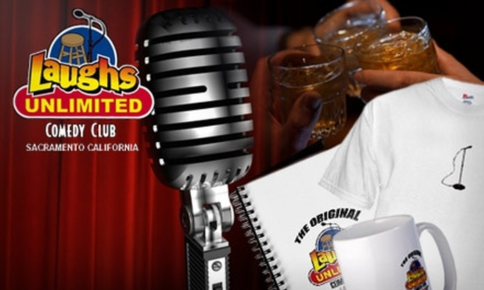 Laughs Unlimited - Central Sacramento: $20 for $50 Worth of Entry, Cover, Food, Drinks, and Merchandise at Laughs Unlimited