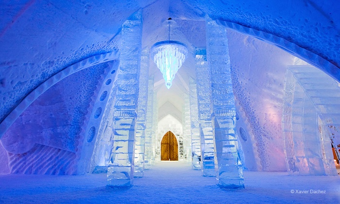 Hôtel de Glace - Notre-Dame-des-Laurentides: $329 CAN for a One-Night Stay for Two in a Standard Room at Hôtel de Glace in Quebec City (Up to $600 CAN Value)