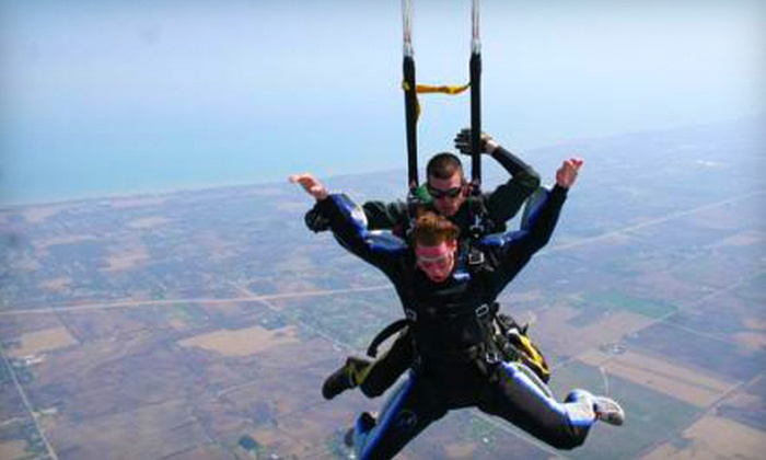 Skydive Midwest - Sturtevant: $125 for a Tandem Skydive from Skydive Midwest in Sturtevant (Up to $209 Value)