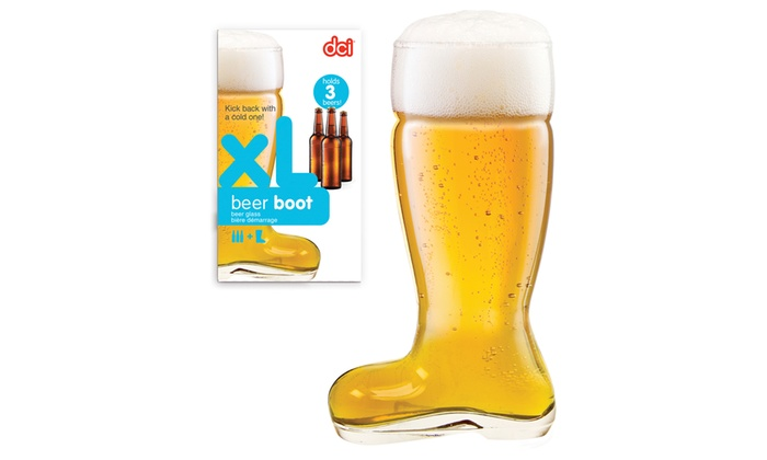40 Oz. Beer Boot Glass