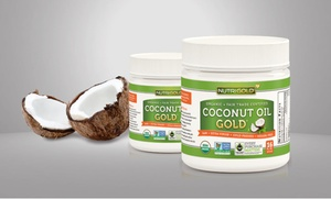 2-Pack of Nutrigold Organic Coconut Oil