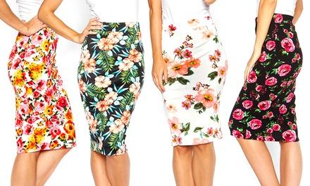 Printed Pencil Skirts (2-Pack)