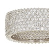 Cubic Zirconia Micropave Eternity Band