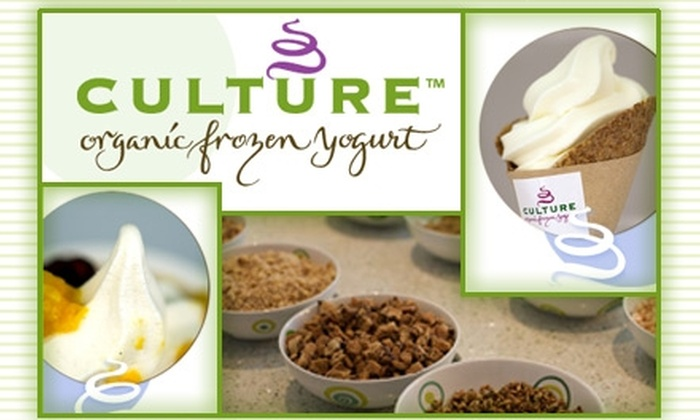 Culture Organic Frozen Yogurt - San Jose: $3 for $6 Worth of Delicious and Healthy Treats at Culture Organic Frozen Yogurt