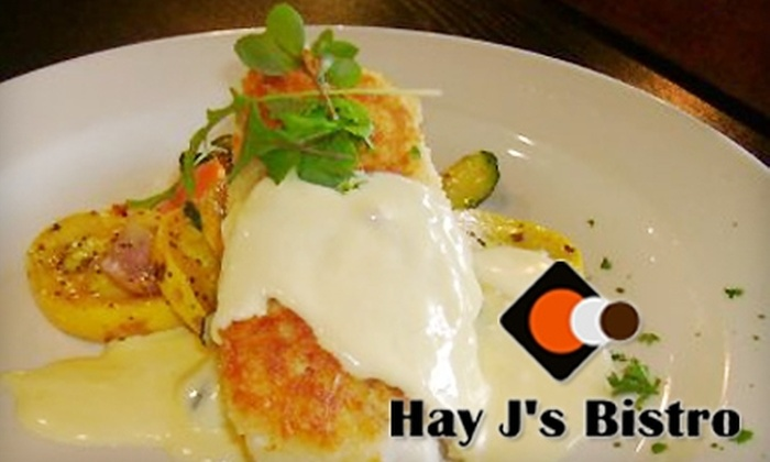 Hay J's Bistro - Liberty Lake: $15 for $30 Worth of Gourmet Fare and Drinks at Hay J's Bistro