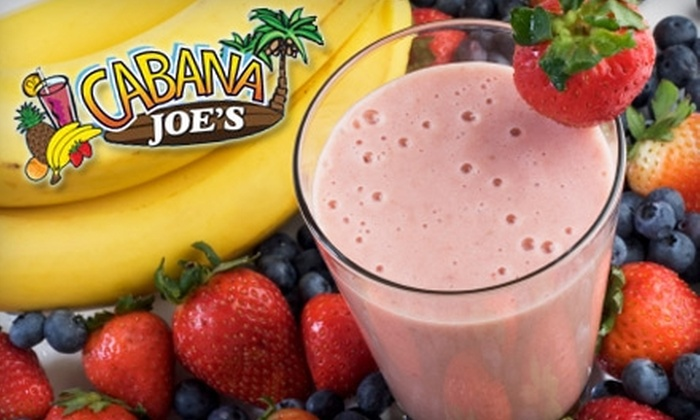 Cabana Joe's - Norwalk: $6 for Two 20 oz. Very Berry or Tropical Smoothies at Cabana Joe's in Norwalk