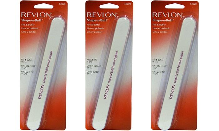 Revlon Shape N Buff Nail File 3 Pack