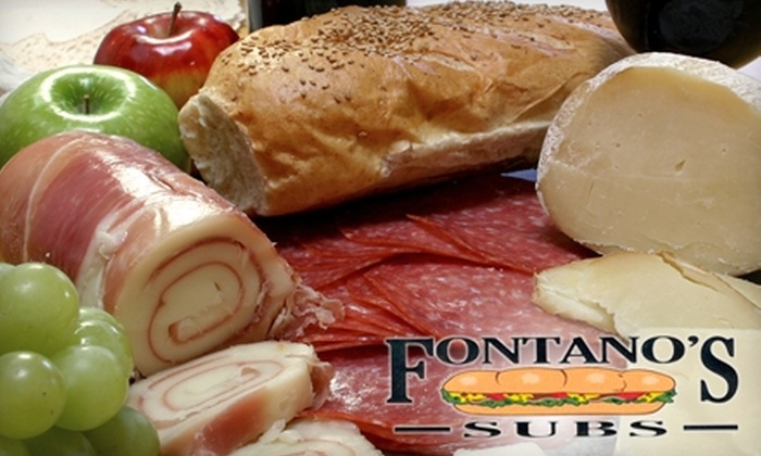 Fontano's Subs - Hinsdale: $60 for Large Catering Trays of Pasta and Meatballs and a Large Garden Salad ($123 Value) or $5 for $10 Worth of Subs at Fontano's Subs in Hinsdale