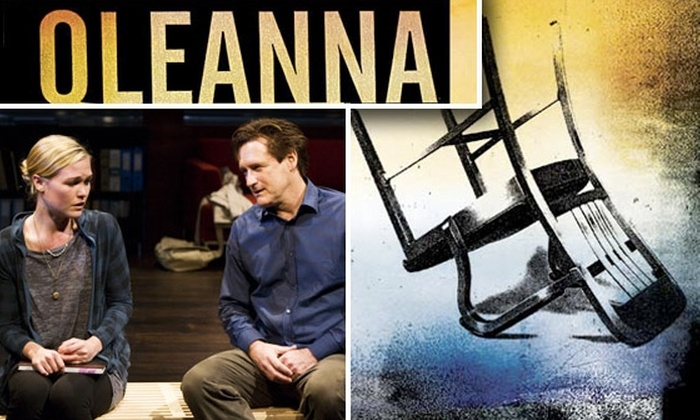 Oleanna on Broadway  - Theater District - Times Square: Free Promo Code Gets You Access to $50–$60 Tickets to 'Oleanna' on Broadway with Bill Pullman and Julia Stiles ($116.50 Value)