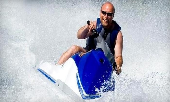 Great White Water Sports - Northeast Virginia Beach: Jet Ski Ride or Jet Ski Dolphin Tour at Great White Water Sports in Virginia Beach (Up to $150 Value)