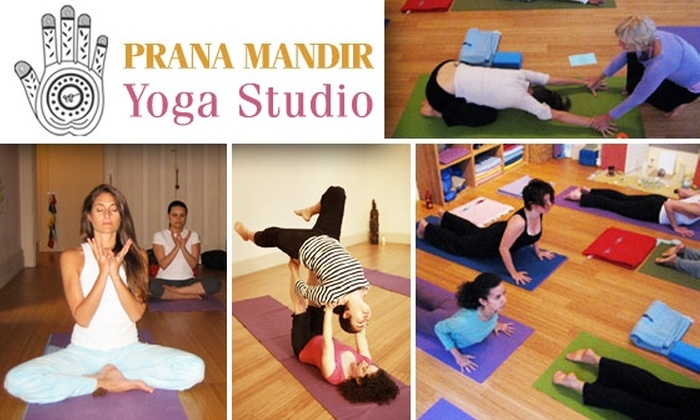 PRANA MANDIR Yoga Studio - Midtown Center: Five Yoga Classes at Prana Mandir Yoga Studio