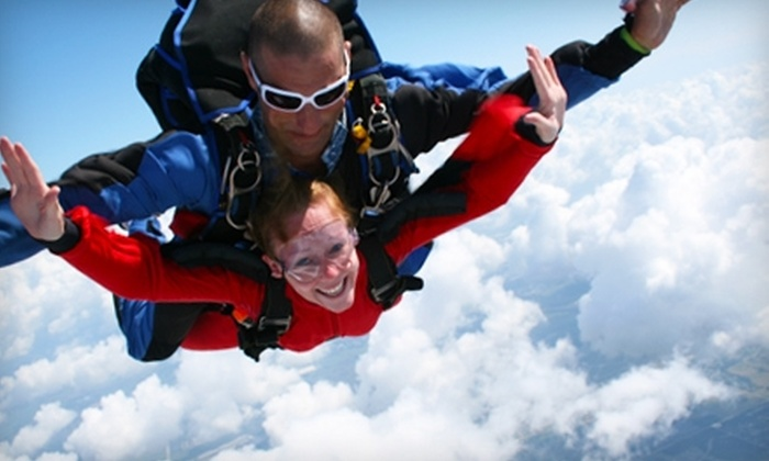 Skydive Tampa Bay, Inc. - Bartow: $130 for One Tandem Jump and T-Shirt at Skydive Tampa Bay, Inc. in Mulberry ($220.40 Value)