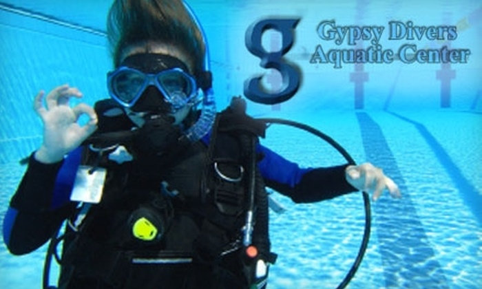 Gypsy Divers Aquatic Center - Northeast Raleigh: $25 for a Three-Hour Try Scuba Introductory Lesson at Gypsy Divers Aquatic Center ($60 Value)