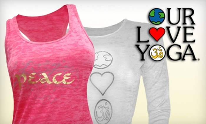 Our Love Yoga: $25 for $50 Worth of Boutique Yoga Wear and Accessories from Our Love Yoga