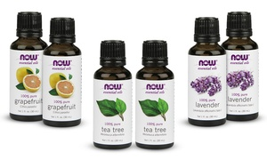 2-Pack of Now Foods Essential Oils: 2-Pack of Now Foods Essential Oils; 1 Fl. Oz. Bottles