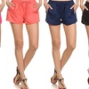 Women's Solid Colored Drawstring Shorts (3-Pack)