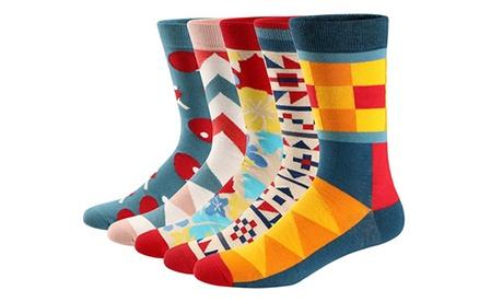 Pack de 5 o 10 calcetines multicolores para hombre