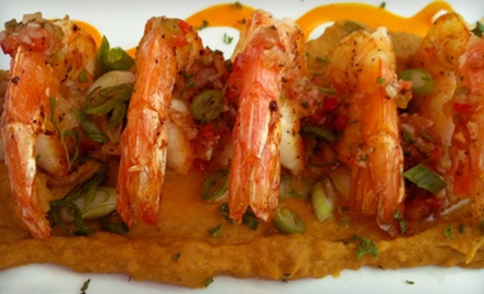 $50 Groupon to Bistro Mediterranean and Tapas Bar - Bistro Mediterranean and Tapas Bar in East Haven
