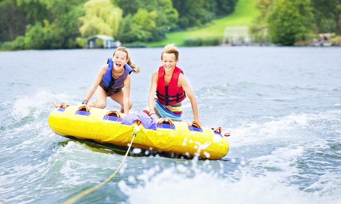 South River Boat Rentals - Edgewater: $239 for Powerboat Rental with Inner Tube and Water Skis from South River Boat Rentals ($540 Value)