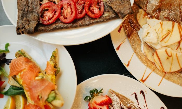 Crepes Sans Frontieres Restaurant & Catering - Spring Arcade Building: French Food at Crepes Sans Frontieres Restaurant & Catering (Up to 50% Off). Three Options Available.