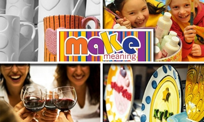 MAKE - Midtown Center: $20 for $40 Worth of Pottery Painting at Make. Buy Here for the FAO Schwarz Location. See Below for Other Locations.