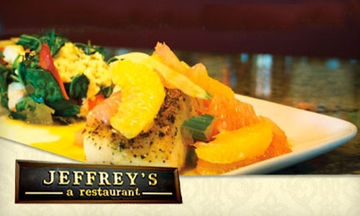 Jeffrey's Restaurant - Fairfield County: $12 for $25 Worth of Upscale Dinner and Drinks at Jeffrey's Restaurant in Milford