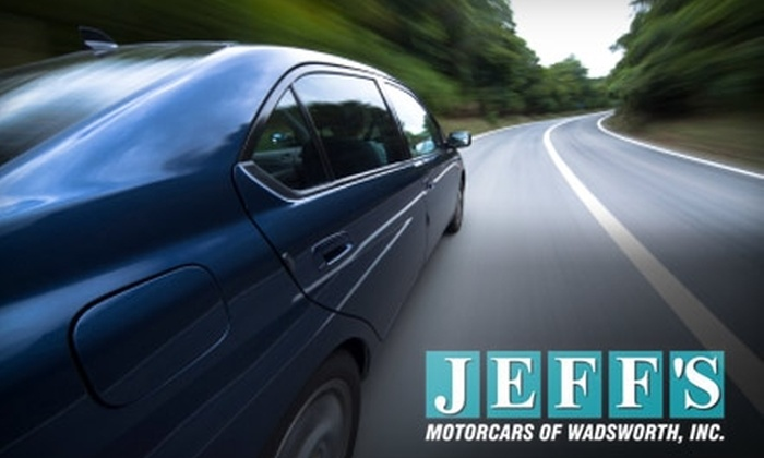 Jeff's Motorcars of Wadsworth - Wadsworth: $30 for Four Oil Changes at Jeff's Motorcars of Wadsworth ($140 Value)