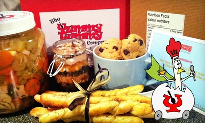 The Yummy Tummy Soup Company: $37 for Two Litres of Chicken-Noodle Soup, Breadsticks, and One Dozen Baileys Chocolate-Chunk Cookies from The Yummy Tummy Soup Company