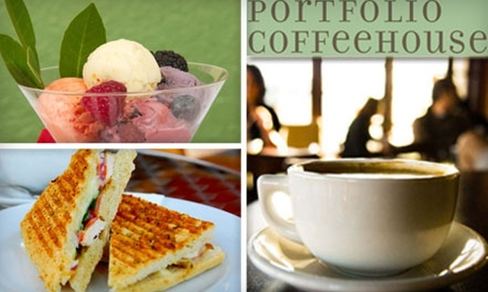 Portfolio Coffeehouse - Multiple Locations: $10 for $20 Worth of Coffee and Café Eats at Portfolio Coffeehouse in Long Beach