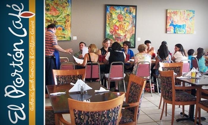 El Portón Café - Grasmere Acres: $10 for $20 Worth of South American and Caribbean Fare at El Portón Café