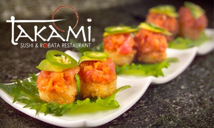 Takami Sushi and Robata Restaurant - Downtown Los Angeles: $25 for $50 Worth of Japanese Fare at Takami Sushi and Robata Restaurant