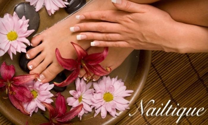 Nailtique Nail Salon - Western 49-63: $24 for a Manicure and Spa Pedicure at Nailtique Nail Salon
