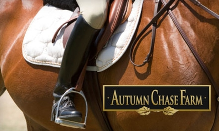 Autumn Chase Farm - 2: $25 for Half-Hour Horseback Riding Lesson at Autumn Chase Farm (Up to a $55 Value)