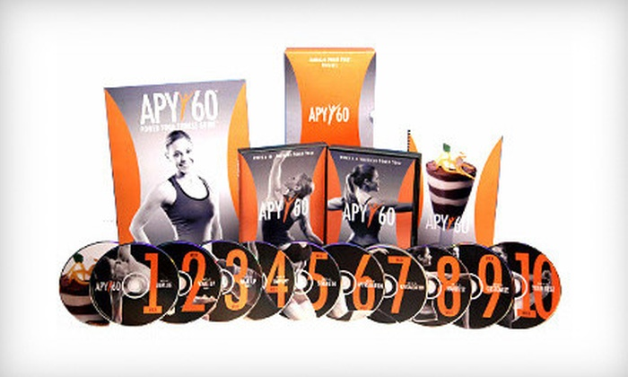 APY60: $49 for 12 Instructional Power-Yoga DVDs from APY60 ($123.95 Value)
