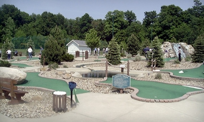 The Golf Dome - Bainbridge: $12 for Four Rounds of Mini Golf or 24 Batting-Cage Tokens at The Golf Dome in Chagrin Falls (Up to $24 Value)