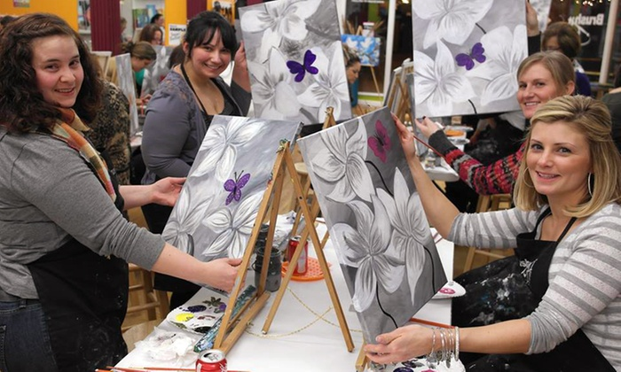 Brush It Off Paint & Sip Bar - Sturbridge: Two-Hour Painting Class for One or Two at Brush It Off Paint & Sip Bar (51% Off)