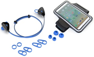 JLab Water-Resistant Bluetooth Earbuds and Armband