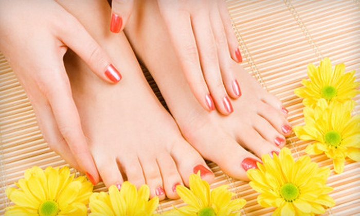 Marc Stevens Gallery and Spa - Grand Center: $35 for a Spa Manicure and Pedicure at Marc Stevens Gallery and Spa ($70 Value)