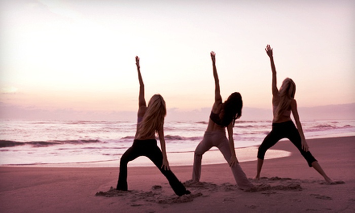 Beach Yoga Pinellas - Multiple Locations: Five Beach Yoga Classes or One Month of Unlimited Classes from Beach Yoga Pinellas (Up to 65% Off)