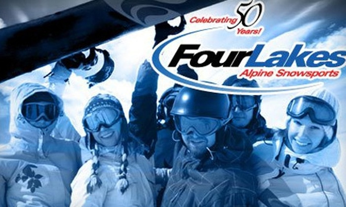 Four Lakes Snowsports - Chicago: Lift Ticket and Ski or Snowboard Rental at Four Lakes Snowsports in Lisle. Choose from Three Options.