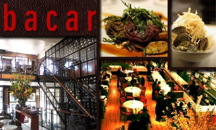 Bacar - Mission Bay: $20 for $45 Worth of Wine by the Bottle at Bacar. Buy Here for the Wine Deal. See Below for an Additional Brunch Deal.