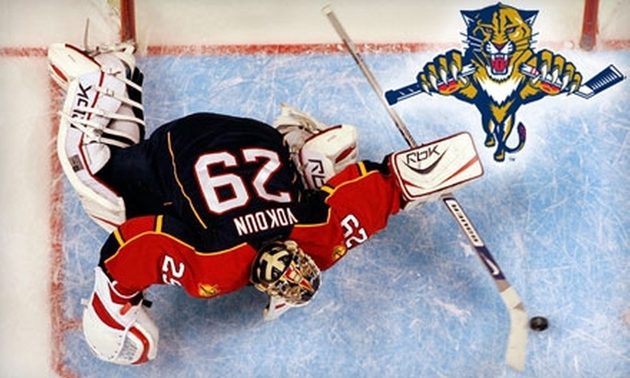 Florida Panthers - Sawgrass Preserve: One Ticket to Your Choice of Three Florida Panthers Games  (Up to $110 Value). Four Seating Options Available.