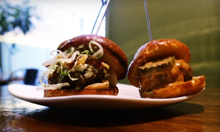 Bare Burger - Multiple Locations: $10 for $20 Worth of Organic Burgers and Drinks at BareBurger. Two Locations Available.