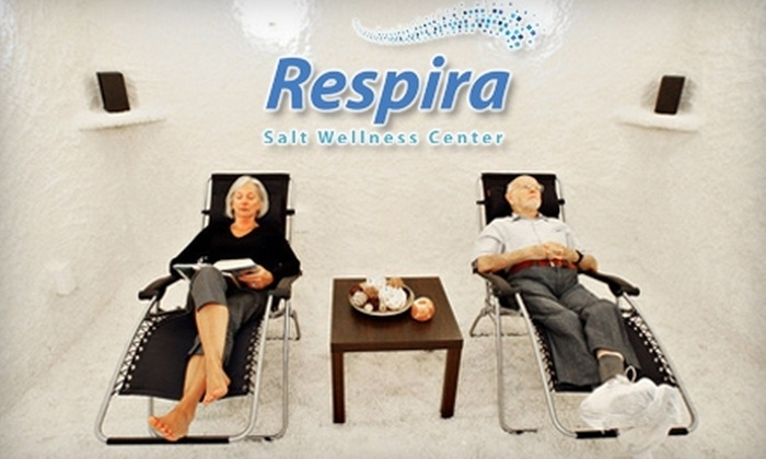 Respira Salt Wellness Center - Berkeley Heights: $40 for Two Adult Halotherapy Sessions ($120 Value) or $30 for Two Children's Halotherapy Sessions ($90 Value) at Respira Salt Wellness Center in Berkeley Heights
