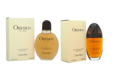 Calvin Klein Obsession for Men Eau de Toilette or Women Eau de Parfum
