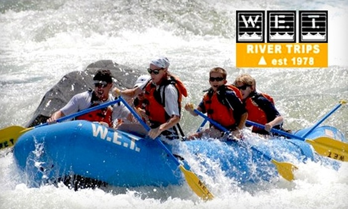 W.E.T. River Trips - North El Dorado: Rafting Adventures from W.E.T. River Trips. Four Options Available.